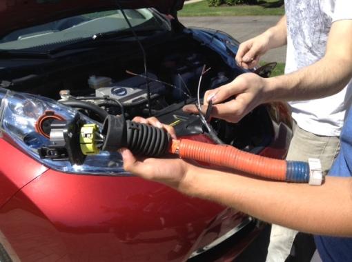 Nissan Leaf Charging Port Damage